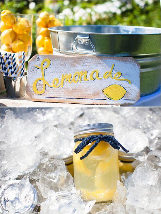lemonade in mason jar