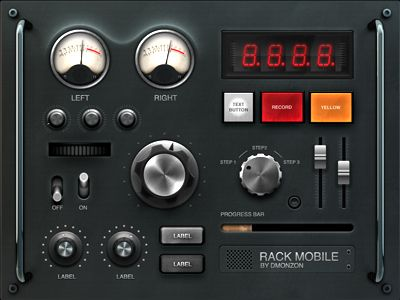 mixer UI dribbble #ui