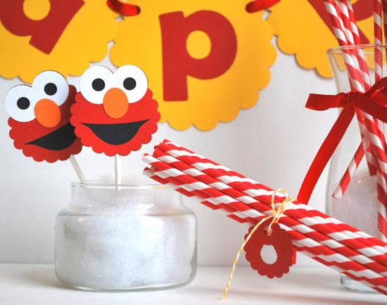 Birthday Elmo Party set Inspired ELMO party set  by Mariapalito,