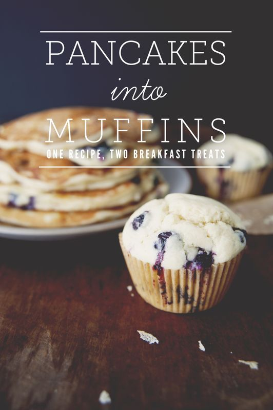 I love this! Pancakes into muffins... one recipe TWO breakfast treats!