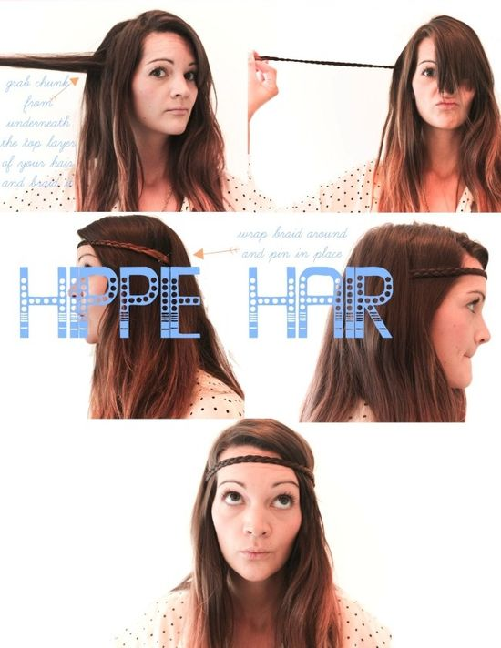 Hippie hair style, I think I'll give it a go.