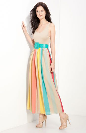 Alice + Olivia 'Wade' Belted Maxi Tank Dress available at Nordstrom