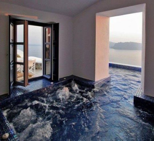 Indoor and Outdoor Hot Tub...