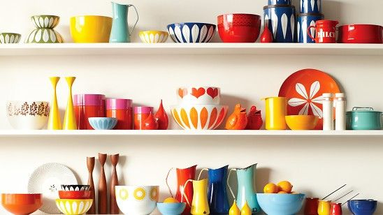 home design /// enamelware collection of illustrator Lisa Congdon