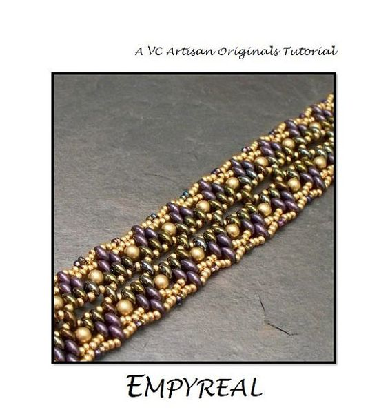 Beading Tutorial, Twin Bead Bracelet Pattern,  Super Duos, Beadwoven Bracelet, Step by Step with Detailed Diagrams, Empyreal