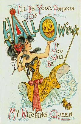 Vintage Halloween, pretty card