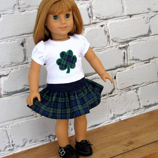 Lucky Shamrock  American Girl Doll Clothes St by SewFunDollClothes, $24.00