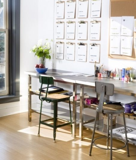 Clean and Bright Office Space #Decor #Office #Desk #Design