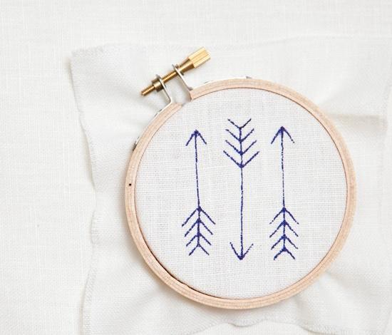 Mini Arrow Embroidery Kit - Navy. $20.00, via Etsy.