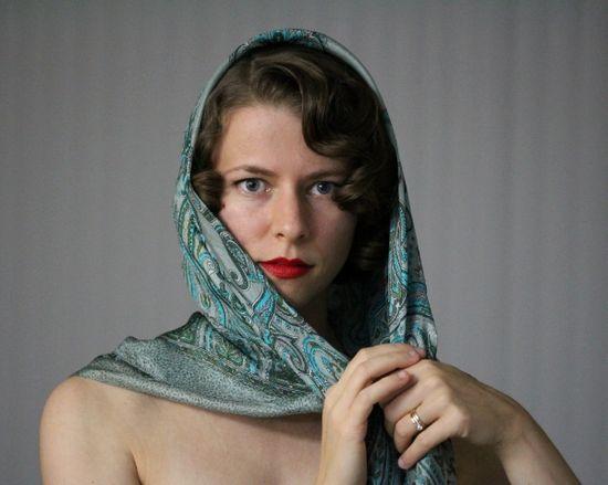 Hair Scarf Tutorial #vintage #hair #style #scarf
