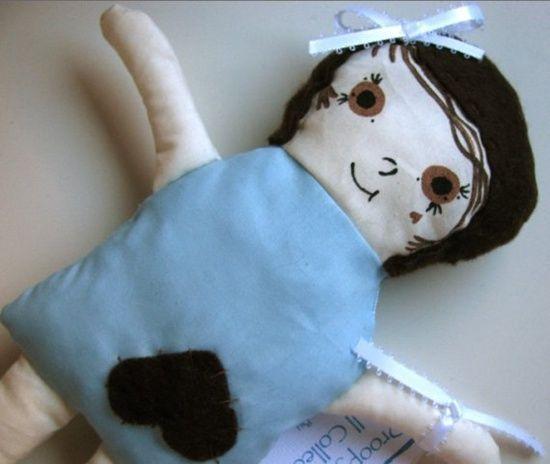 Blue handmade plushie