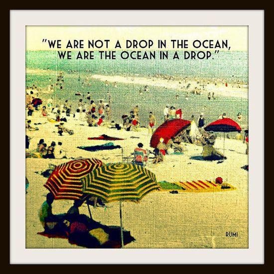 beach photography 12x12 Rumi inspirational quote print