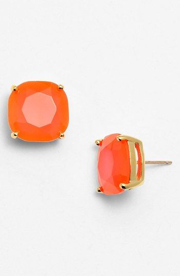 kate spade new york stud earrings-Fluorescent Coral/Gold