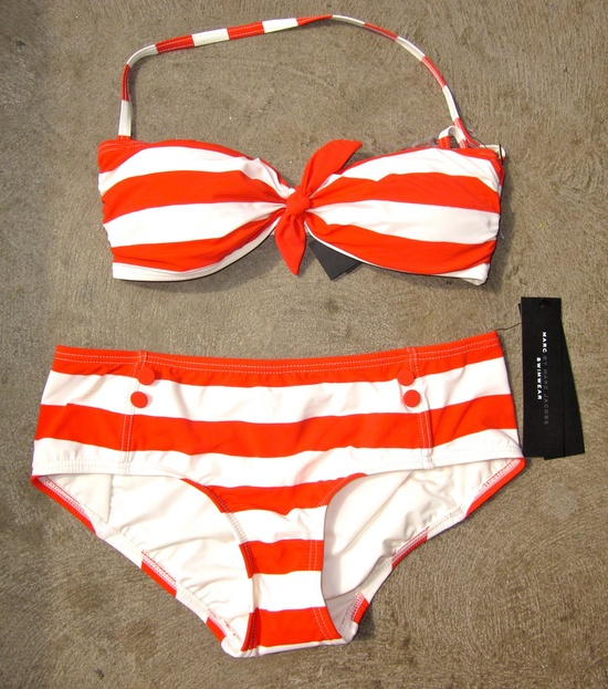 Stripe bandeau bikini - cute!