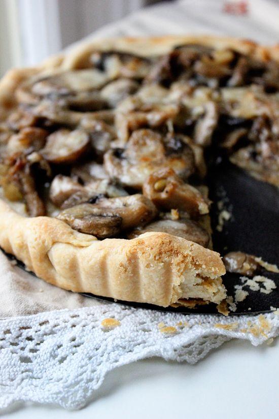 Two Tarts: Wild Mushroom and Gruyere Tart