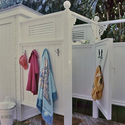 I would love an outdoor shower! Living on the coast for so many years almost everyone had one and I miss them!
