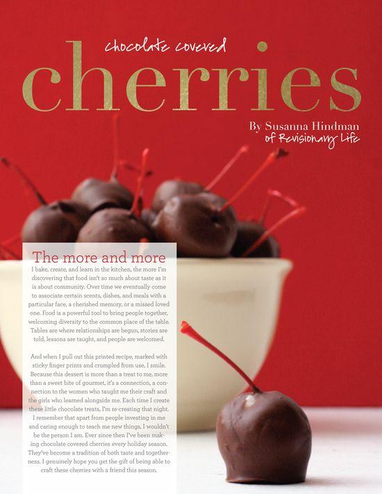 handmade gift // chocolate covered cherries