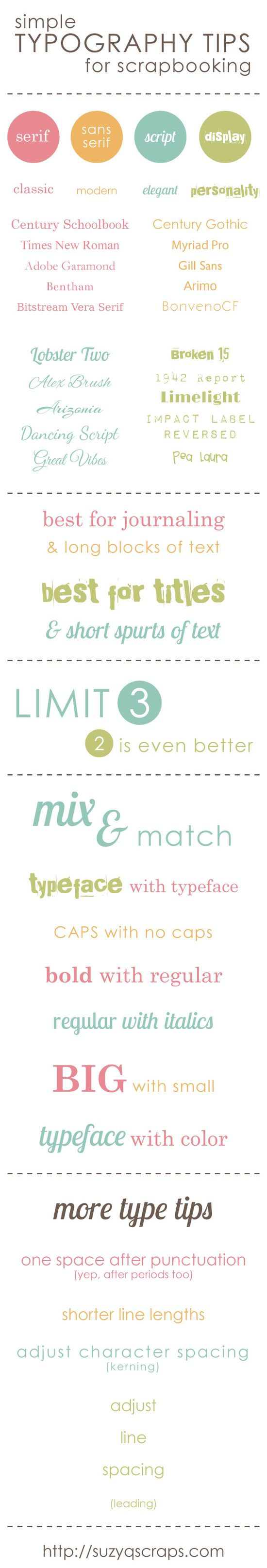 Simple Typography Tips for Scrapbooking