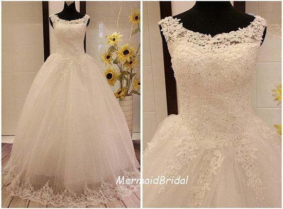 2013 lace wedding dress Vintage lace wedding by MermaidBridal, $268.99
