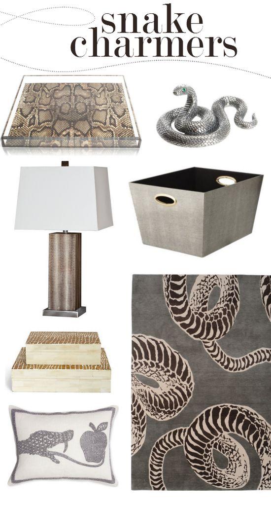 snakeskin home decor trend #snakes #snakeskin