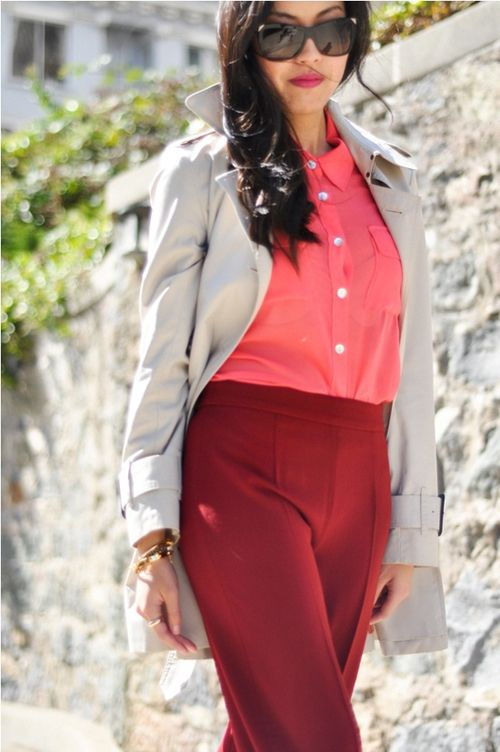 working girl style {color blocking}