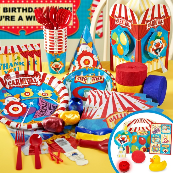 Carnival party supplies on birthdayexpress.com