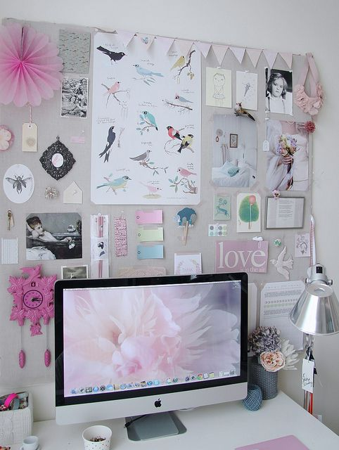 lovely office space by irideeën, via Flickr
