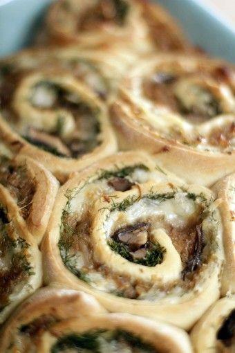 Savory mushroom rolls