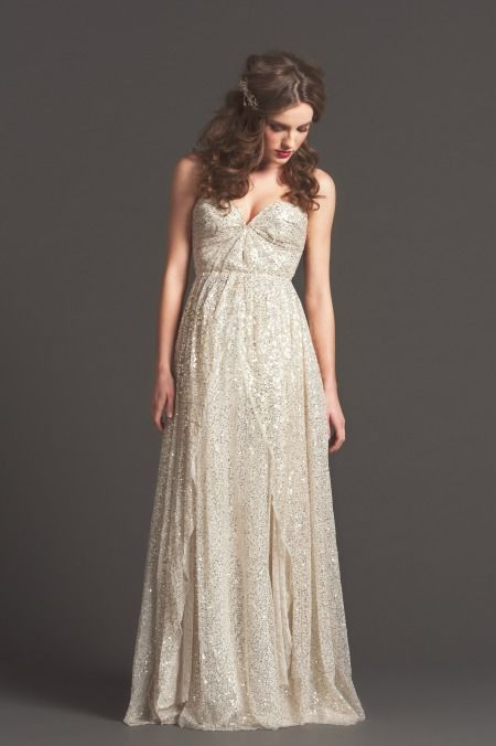 Brand new for Fall 2013 by Sarah Seven. Sparkly!