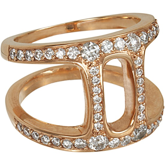 Hoorsenbuhs Rose Gold & Diamond Dame Phantom II Ring