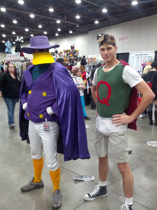 Quailman cosplay (feat. Darkwing Duck)> Okay so I am not a huge fan of cosplay but this just made me sail back in time to 10 years ago... ;]