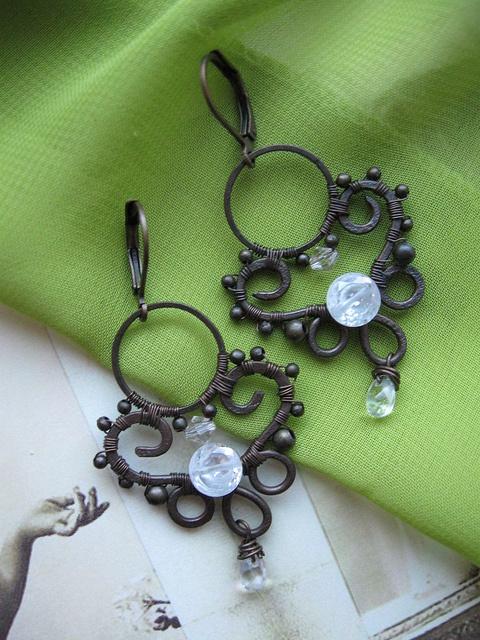 wirework earrings by lirimaer86 on flickr