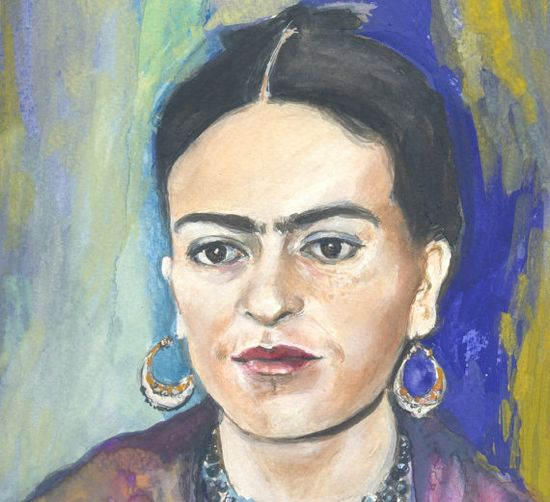 Frida  Fine Art  original gouache painting  by OhLaLaGalerie, $120.00