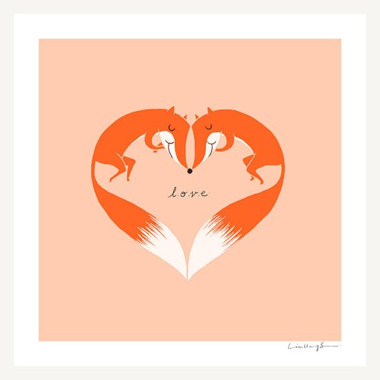 """""""All we need is... love"""" print by ilovedoodle #print #animals"""