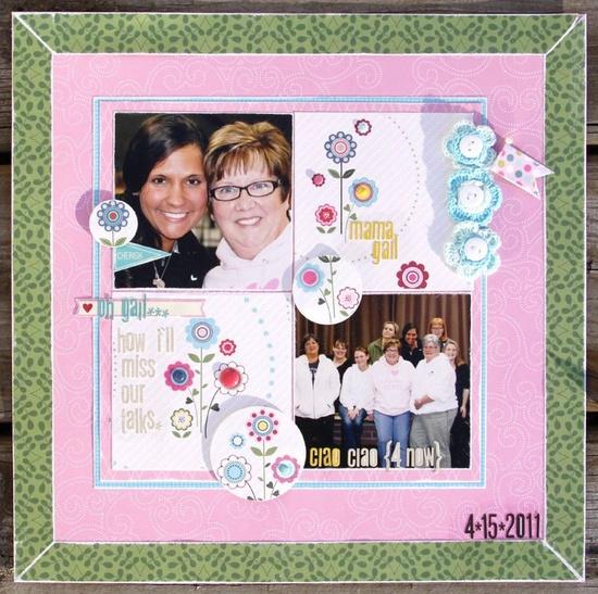 Featuring Bella Blvd's Crochet Flowers. Friends Layout by Bella Blvd owner, Stephanie Hunt