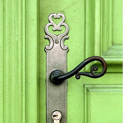 What's behind this green door?
