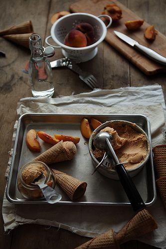 Roasted Peach Sherbet