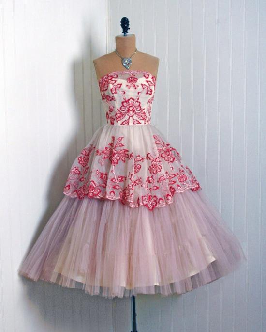 1950's vintage party dress.