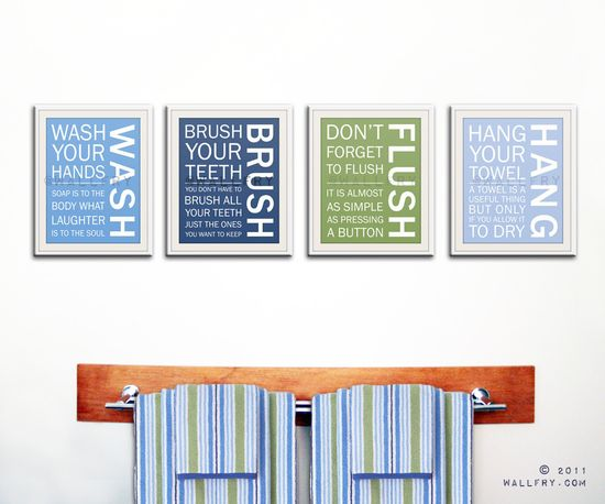 Kids bathroom decor. Etsy.