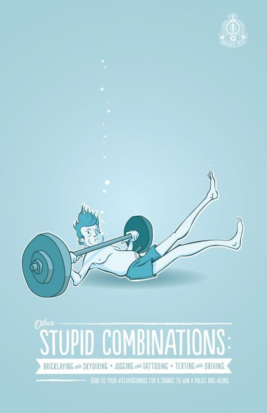 Vancouver Police Department: Weightlifting while swimming adsoftheworld.com... #advertising