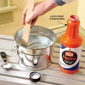 use a paint conditioner for fewer brush lines when painting