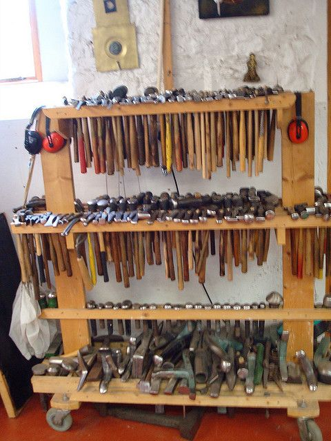 hammers & stakes by Danielle Miller Jewelry, via Flickr