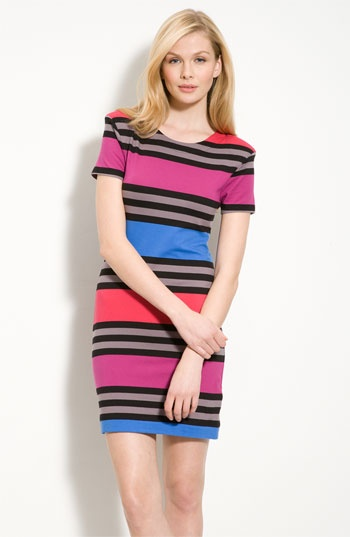 French Connection Stripe Knit Sheath Dress