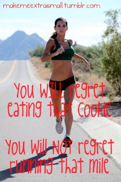 more running, less cookies