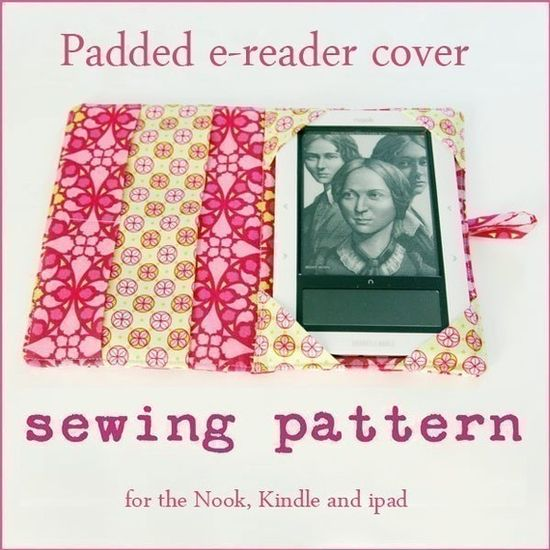 Padded e-reader covers by Birdiful Stitches available for all versions of the Kindle, Nook and iPad
