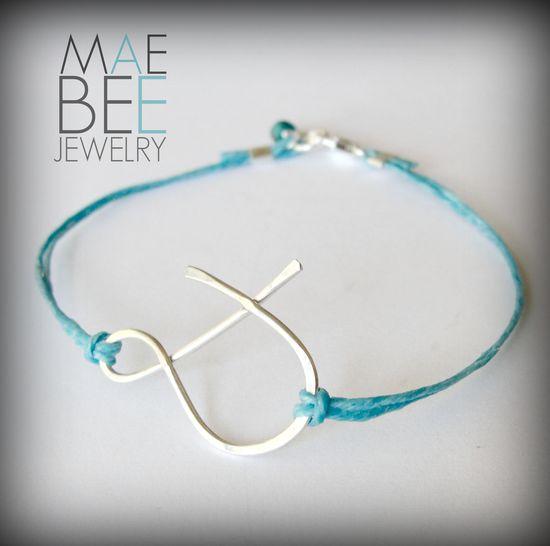Sterling #ampersand #bracelet on linen from JewelryByMaeBee on #Etsy. #sfetsy www.jewelrybymaeb...