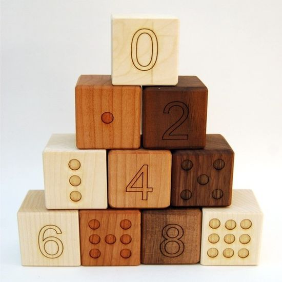 number blocks by little sapling toys