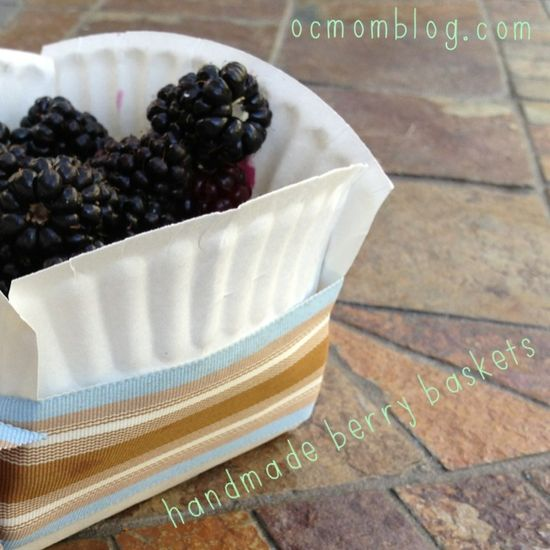 Handmade Paper Plate Berry Baskets #ocmomcrafts