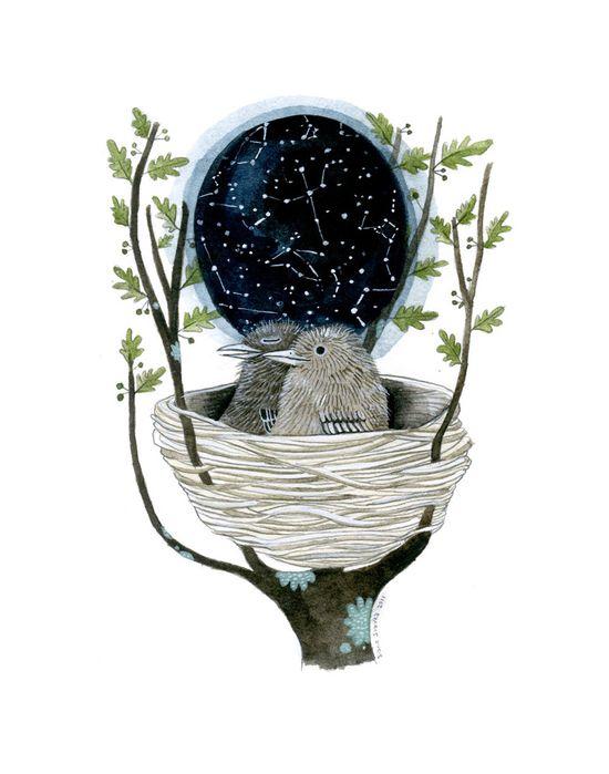"""Star Map by Diana Sudyka: 11 x 14"""""""