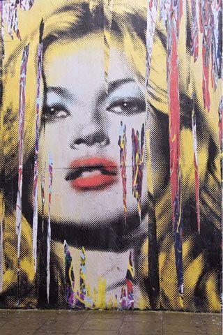 Kate Moss Graffiti Mural In London